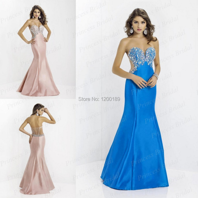 2014 Prom Dresses Abendkleider Made Mermaid Sweetheart Floor Length ...