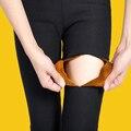 2017 Otoño Invierno, Más Gruesa de Terciopelo Cálido Leggings Mujeres Pantalones Pantalones Capri 11 Colores Leggings Imprimir Pantalones de Fitness Más El Tamaño