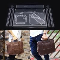 10pcs/Set Briefcase Handbag Acrylic Template Pattern DIY Leather Bag Making
