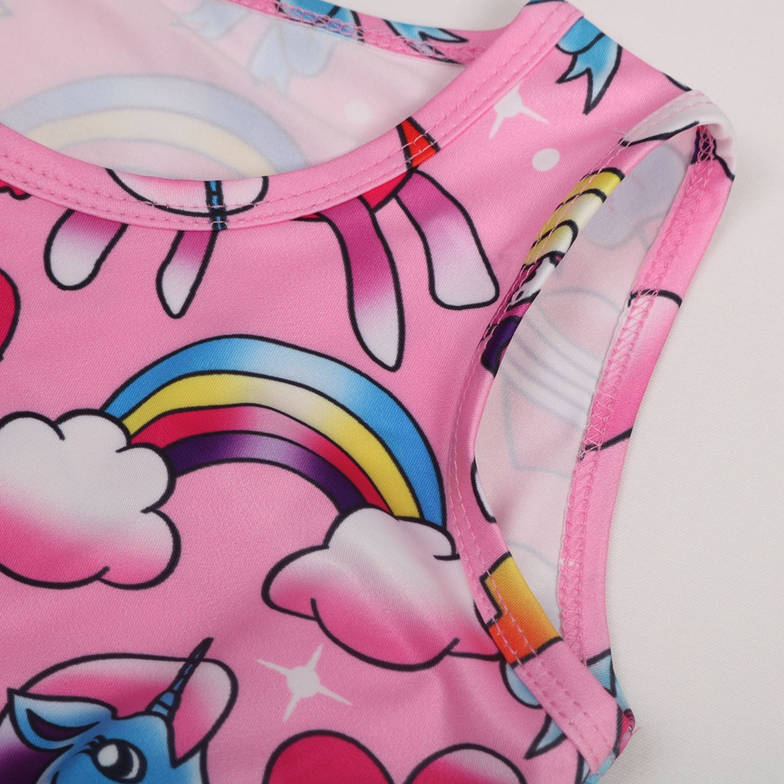 Children Clothing Vestidos My little Baby Flamingo Unicorn Party Girl Dress Kids Summer Dresses for Girls Clothes Princess Dress 4