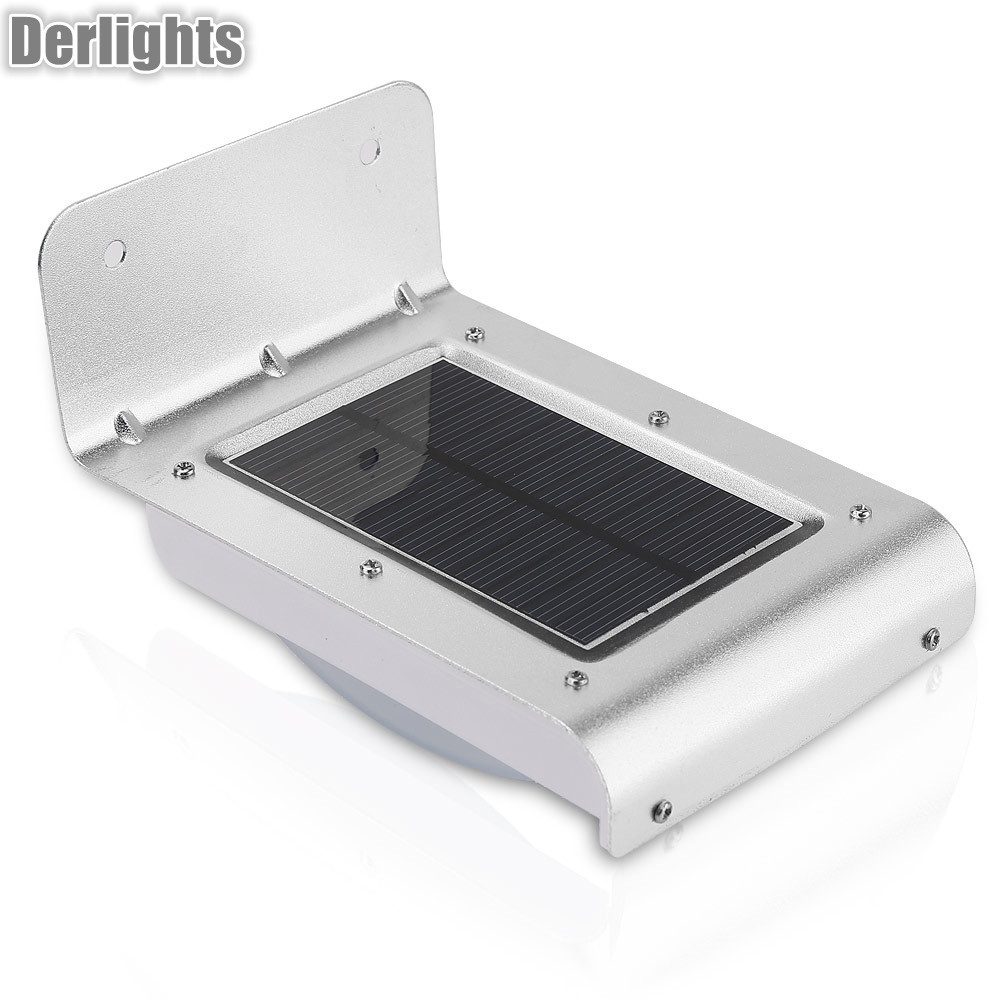 16 LED Solar Power Energy PIR Infrared Motion Sensor Garden Security Lamp Outdoor Light