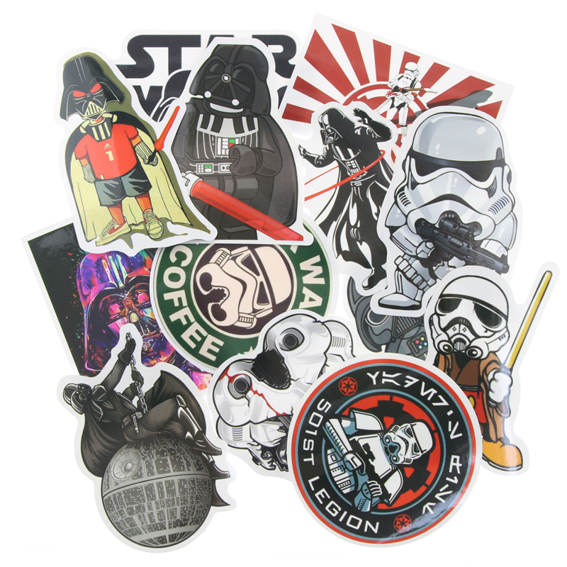 25 Kinds Star Wars Waterpoof Fuel Cap Creative Sticker For Skateboard Laptop Luggage Fridge Phone Styling Home Toy Sticker ...