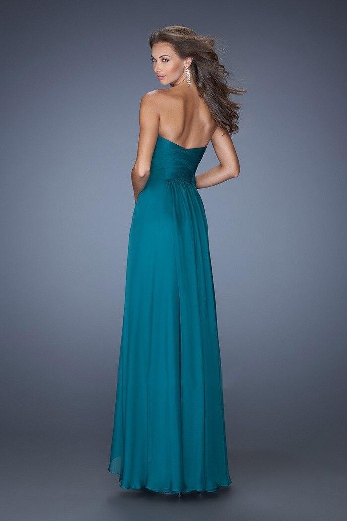 Robe de soiree vert bleu