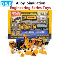 1:50 DIY simulation Engineering Series toys Alloy Engineering Vehicle Simulation excavator,Truck Model Gift for Children Toys