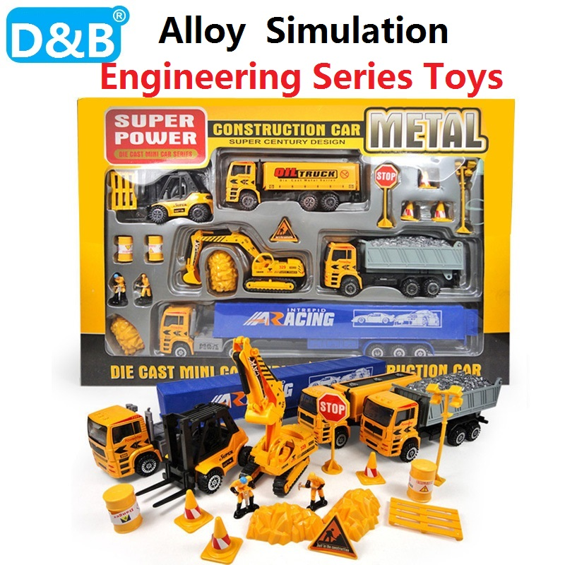 1:50 DIY simulation Engineering Series toys Alloy Engineering Vehicle Simulation excavator,Truck Model Gift for Children Toys 1 50 drill wagon alloy truck engineering vehicle toy car model dinky toys for children boys gift