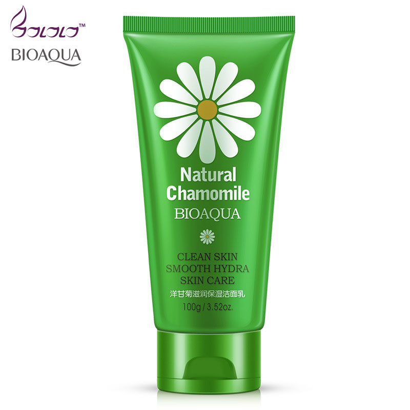 BIOAQUA Natural Chamomile clean skin Facial Cleanser Face Cleaning Cleansing Remove Blackhead Skin Care Oil-control Moisturizing цена