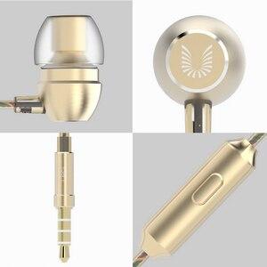 Image 5 - مذهلة HD صوت سماعات مع مايكروفون المعادن سماعة رأس جهيرة الصوت 3.5 مللي متر مطلية بالذهب جاك العالمي للهواتف الذكية أقراص MP4 uiasii HM7