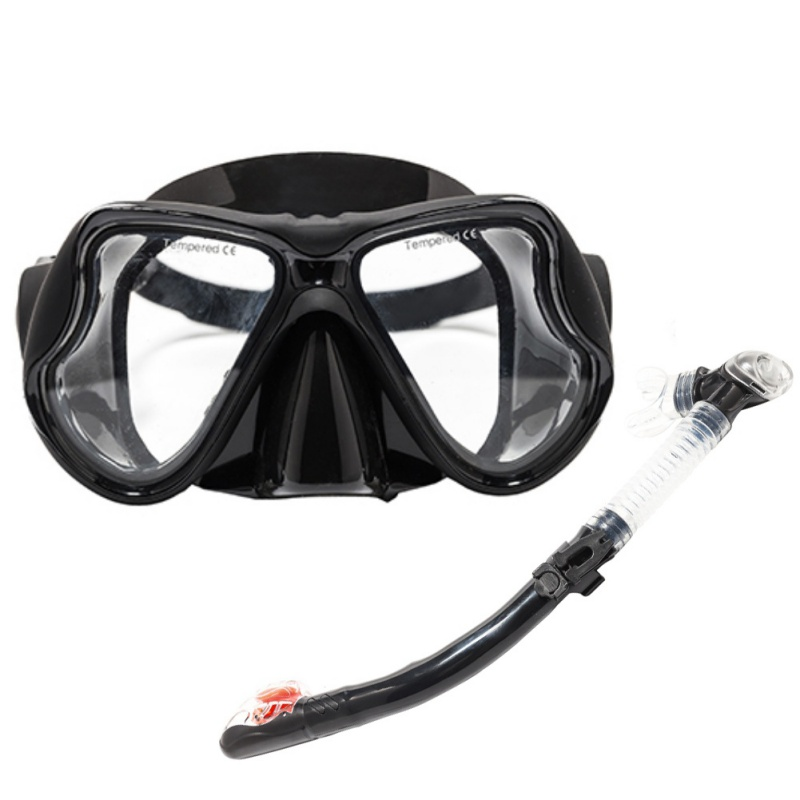 Underwater Scuba Diving Mask Silicone Mask Snorkel Durable Wear Resistant Diving Masks Set Comfortable Mask