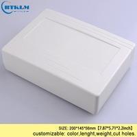 Duvar montajı açık bağlantı kutusu abs diy plastik elektronik konut plastik muhafaza 200*145*56mm alet kutusu (1 adet)
