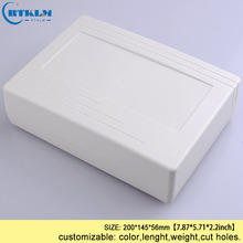 Wall mounting outdoor junction box abs diy  plastic electronic housing plastic enclosure 200*145*56mm instrument box (1 pcs) 290 260 80mm 4 pcs lot ip55 waterproof plastic enclosure for electric abs electronic cabinet junction enclosure housing diy box