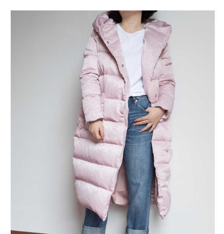 Ukuran S--10XL Longgar STYLE Hooded Down Mantel Musim Dingin Wanita Mantel Plus Ukuran Tebal Jaket Ukuran Down Mantel