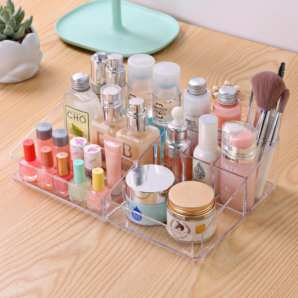 A1 Large cosmetic storage box transparent plastic desk finishing box dressing ta