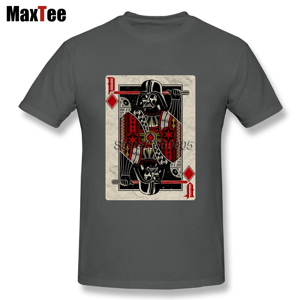 Star Wars Darth Valder Tee Shirt Men Funny Custom Short Sleeve Boyfriends Big Size Party Vintage Poker Camiseta