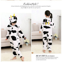 Cute Cow Kids Cartoon Animal Cosplay Party One Piece Pajamas Halloween Costumes Personality Costumes Jumpsuits Soft