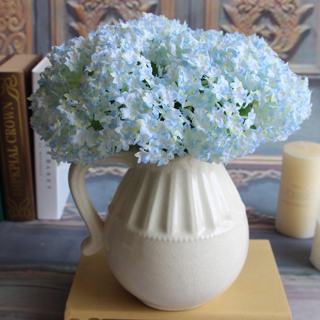 retail european fake silk flower branch artificial hydrangea wedding bridal home floral decor flower arrangement diy - Branch Flower Arrangements