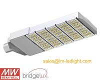 led street light 150w waterproof daylight white 4500K MeanWell LED driver Bridgelux 45mil LM 80 street led light free shipping