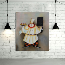 Handpainted Decorative Free Shipping Art Skillful and Lovely Cook Oil Paintings Canvas Abstract Wall Pictures for Home Decor