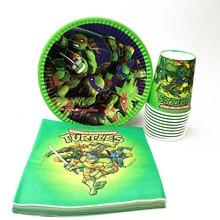 60pcs/lot Cups Teenage Mutant Ninja Turtles Party Supplies