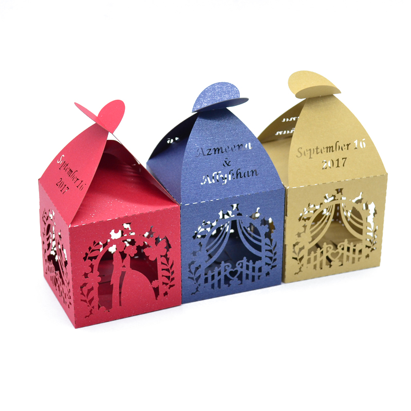 Thanks For The Wedding Gift: Groom And Bride Candy Box Wedding Gift Laser Cut Wedding