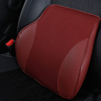 Memory Foam Breathable Car Seat Lumber Support Universal Four Seasons Ergonomic Thick 3D Design Best for Back Pain Relief (Red)