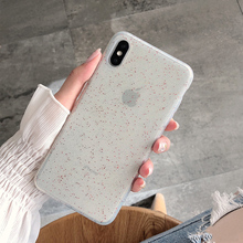 Bling glitter phone case for iphone XR Case Clear Soft silicone For X XS Max 7 8 Plus back cover