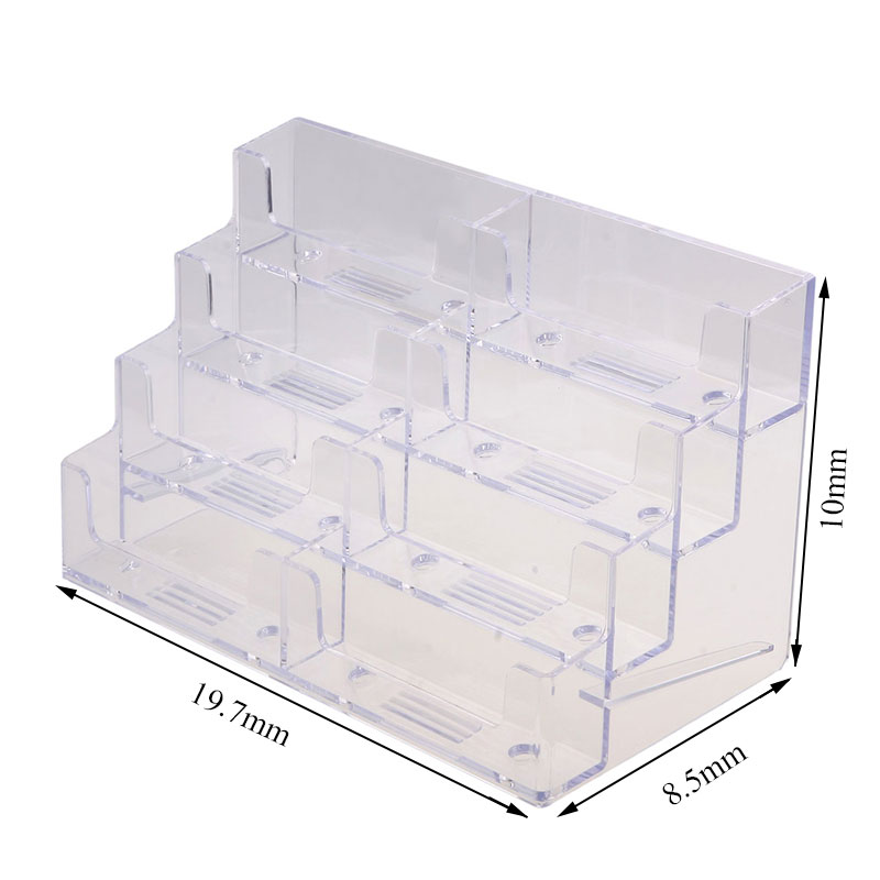 8 Pocket High Quality Desktop Clear Acrylic Business Card Holder ...
