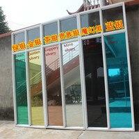 シルバーグリーン/ブルー/ブラック/ゴールデン/銅断熱窓フィルムステッカーソーラー反射片道ミラー幅120センチ× 5メートル