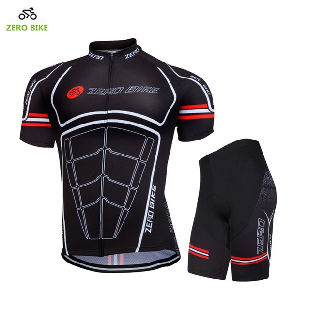 205f73ebd ZERO BIKE 2017 High quality Men s Cycling Jersey + shorts Quick Dry  Breathable Gel 3D Padded Bicycle Clothing Black M-XXL