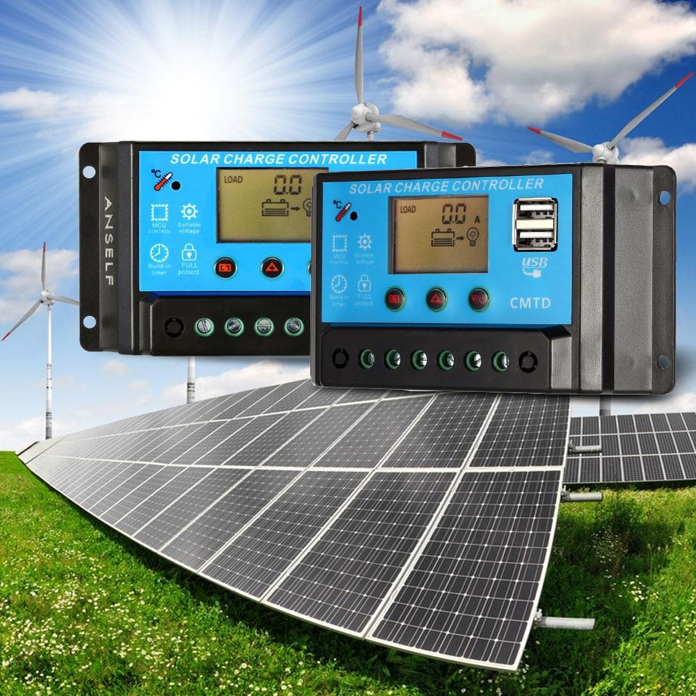 Solar Panels To Batteries Via Regulator