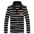 Новое Прибытие 2017 Весна Мужчины Повседневная Polo Рубашки С Длинным Рукавом отложным Воротником упражнения Мужчины Поло Camisa Polo Masculina размер M-5xl