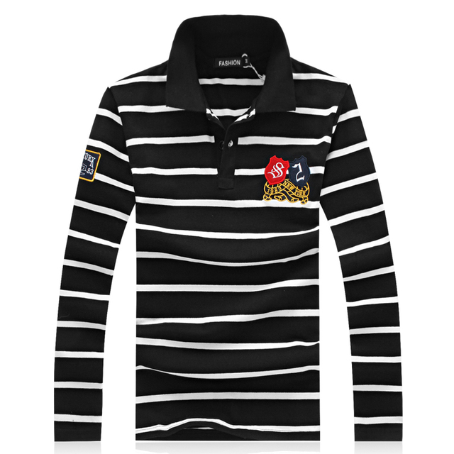 New Arrival 2017 Spring Men Casual Polo Shirts Long Sleeve Turn-down Collar exercise Men Polos Camisa Polo Masculina Size M-5xl