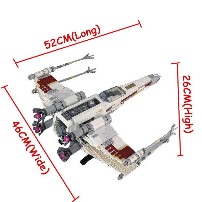 Oyuncaklar ve Hobi Ürünleri'ten Bloklar'de 05039 1586 Adet Yıldız Kırmızı Beş X Starfighter kanat Savaşları Yapı Taşları Tuğla Oyuncak ile Uyumlu 10240 oyuncaklar hediye'da  Grup 3