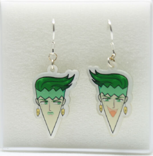 Jojo S Bizarre Adventure Derivative Work Super Handsome Earrings Rohan Kishibe