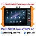 7 polegada da Tela de Toque Monitor de Câmera de Segurança IP CCTV Tester IPC TVI testador IP Analógica CVBS Vídeo Teste POE HDMI de Áudio de Som saída