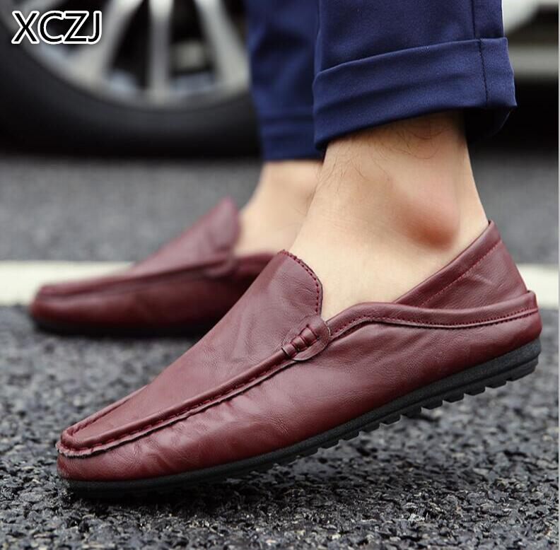 XCZJ 2018 new autumn and winter bean shoes men British pedal lazy shoes leisure and comfortable shoes men A58 men fashion autumn and winter men s hooded leisure sweatshirt