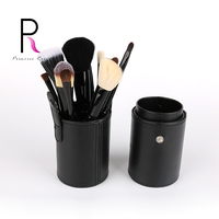 12pcs Professional Makeup Brushes Make Up Brush Set Kit Pinceis Pincel Maquiagem With Portable Leather Brush