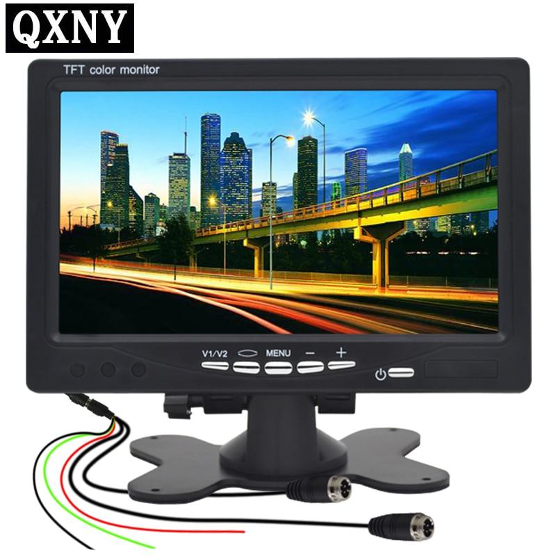 QXNY 9 v-24 v van retromarcia immagine ad alta definizione di visione notturna a raggi infrarossi bus di poppa AHD monitor dell'automobile macchina fotografica dell'automobile