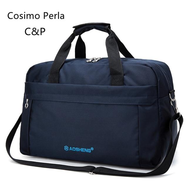 Korean Fashion Short-distance Men Travel Bag Fashion Nylon Sport Fitness Bag Business Work Large Capacity Waterproof Luggage Bag