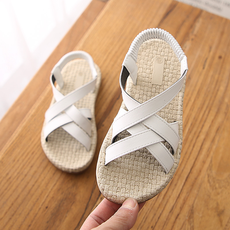 Cozulma Girls Roman Style Sandals Kids Summer Shoes For Girls Princess Soft Bottom Sandals For 3 12 Years Children Summer Shoes