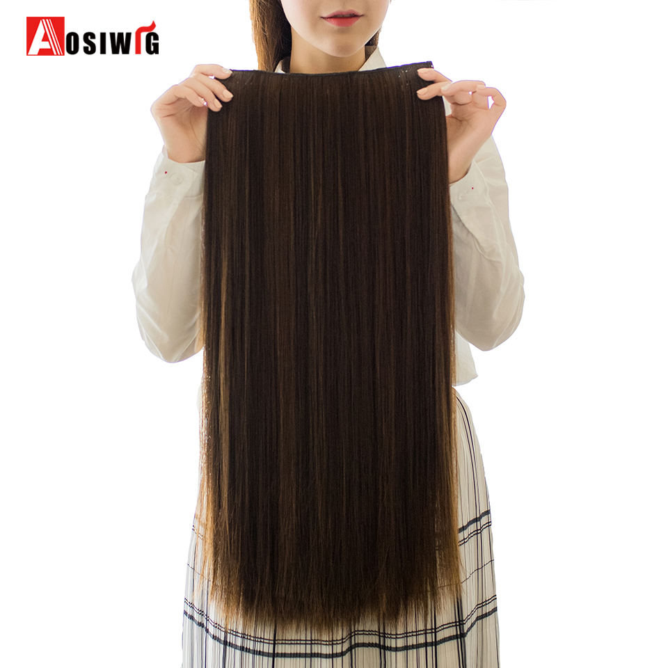 Hot Sale Aosiwig Long Straight Fake Hair Hair Extensions Two Styles