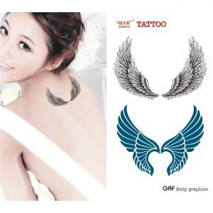 Temporary tattoo stickers waterproof women men sexy for Fake neck tattoo