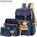 Ayez Women Backpack set 2016 printing School Bags Teenagers fashion preppy canvas Backpacks daypacks Bookbag travel bag LM3583fb