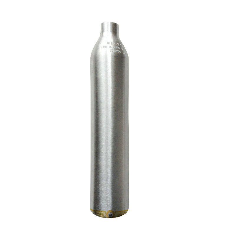 0.5L Paintball HPA Tank High Pressure Cylinder Aluminous Alloy Silver 200bar/3000psi M18*1.5 Thread