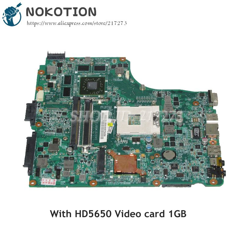 NOKOTION MBPSL06001 MB.PSL06.001 For Acer asipre 4745 4745G Laptop Motherboard DA0ZQ1MB8F0 HM55 DDR3 HD5650 1GB mb psm06 001 mbpsm06001 for acer aspire 4745 4745g laptop motherboard hm55 ddr3 ati hd5470 512mb discrete graphics mainboard