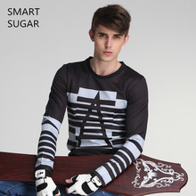 SMARTSUGAR Long Sleeve T Shirt Men 2017 Fashion Geek T Shirts For Men Spring Autumn Casual Tee Shirt Homme Streetwear T-shirt