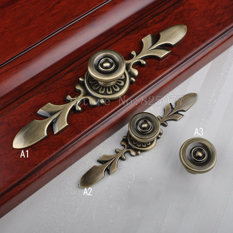 8PCS American Style Wine Cabinet Wardrobe Knobs Drawer Furniture Cupboard Kitchen Cabinet Door Pulls Handles and Knobs JF1399 antique european furniture handles cabinet handle door drawer circular copper