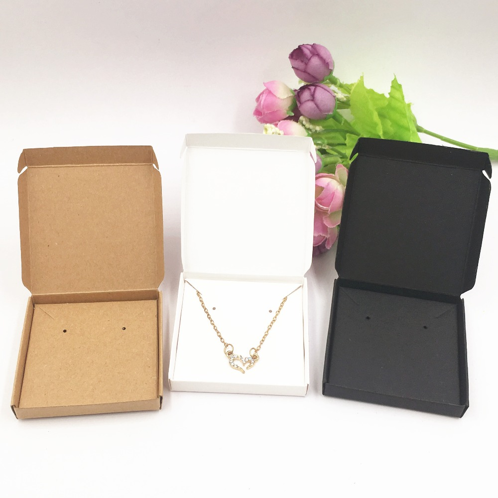 24 Sets Hot Sale Classic Blank Jewelry Box Necklaces Earrings Bracelets Box Jewelry Packaging & Display Box Carton Gift Box Sets