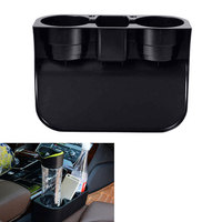 Car Styling Auto Metal Beige 2 Cup Drink Beverage Holder Seat Seam Wedge Holder Truck Mount