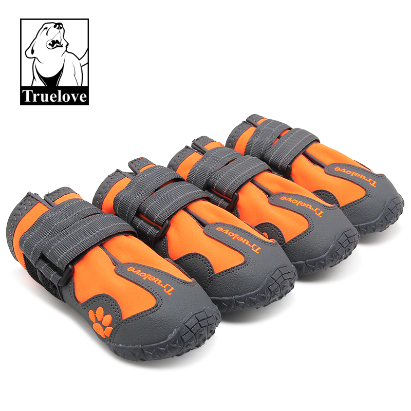True Love Outdoor Dog Shoes For Sports Mountain Wearable For Pets TPR Soles Waterproof Reflective Small
