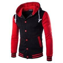 Hombre Patchwork multi Color con capucha abrigo chaquetas de béisbol rayas abrigo  Casual hombres Outwear Streetwear chaqueta a0c26d953dd